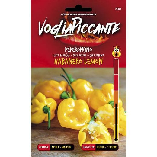 VOGLIAPICCANTE PEPPER SEEDS - HABANERO LEMON